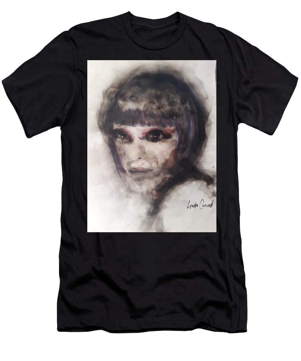 Men's T-Shirt (Athletic Fit) featuring the painting Delicately by Lioda Conrad
