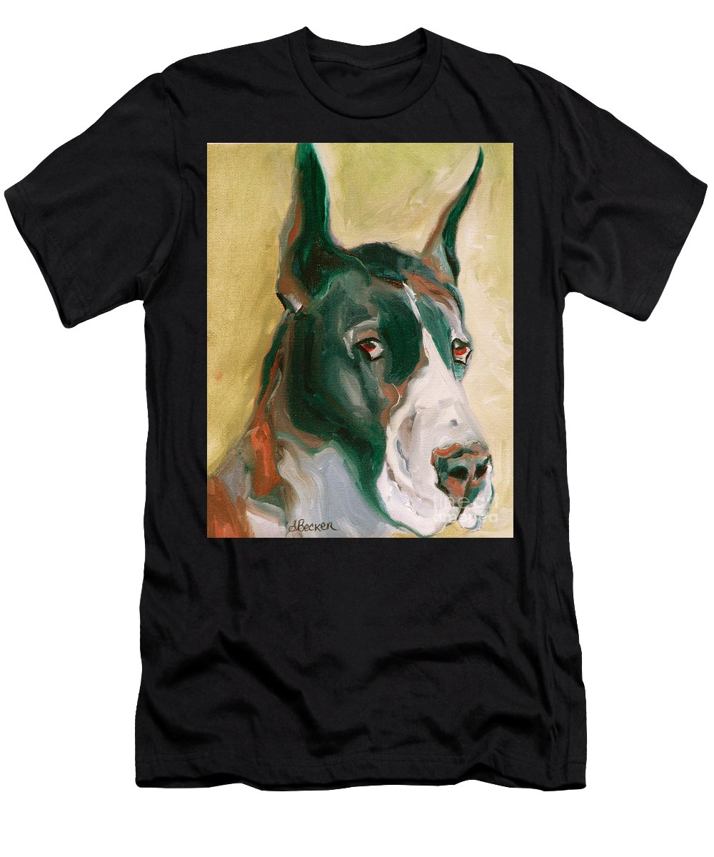 Greeting Cards Men's T-Shirt (Athletic Fit) featuring the painting Delicious Dane by Susan A Becker