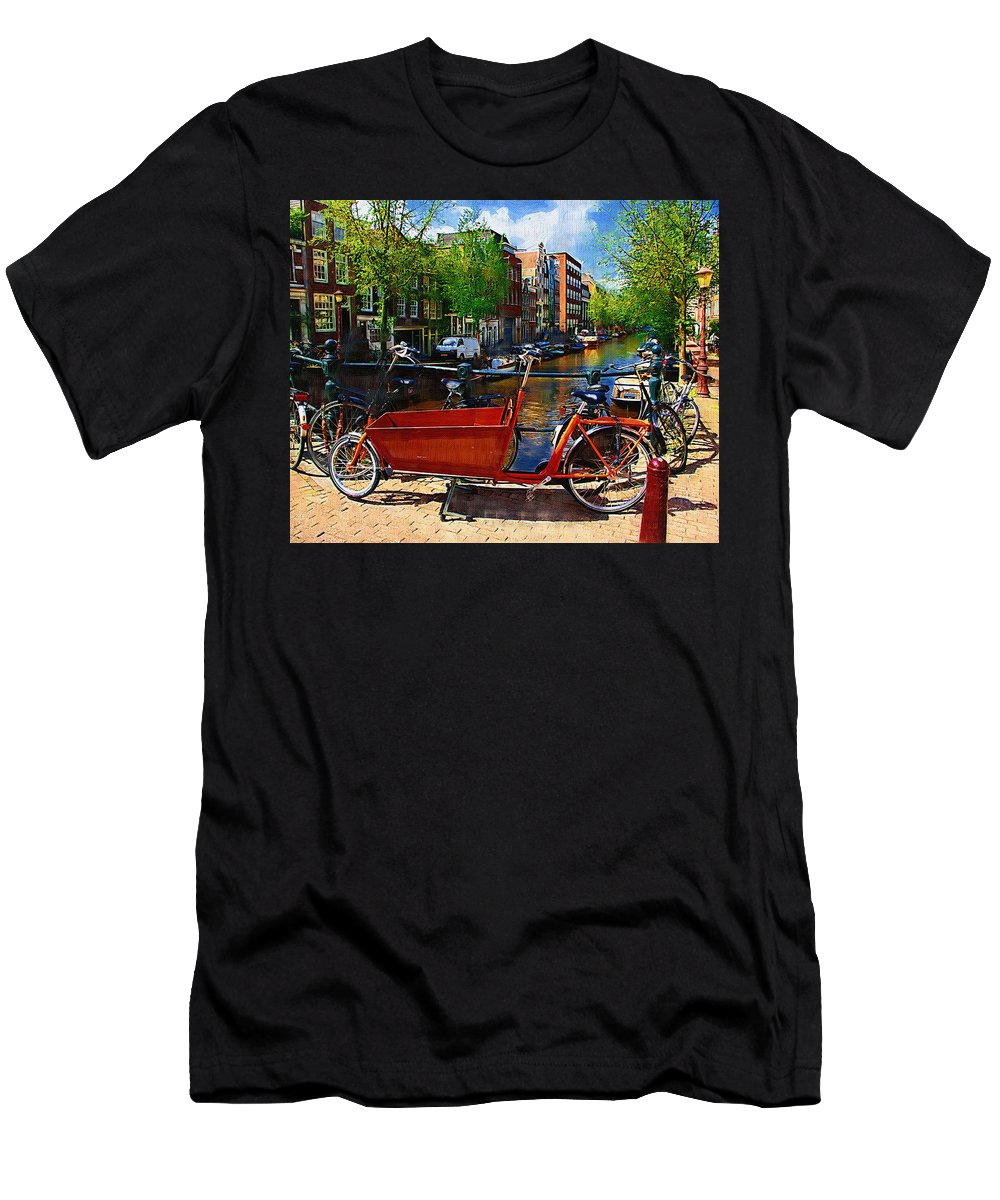 Bike Men's T-Shirt (Athletic Fit) featuring the photograph Delivery Bike by Tom Reynen