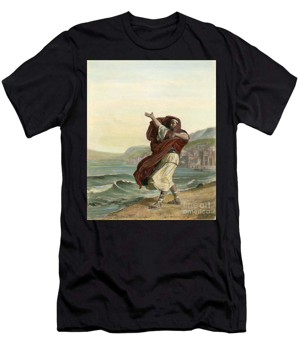 Ancient Men's T-Shirt (Athletic Fit) featuring the drawing Demosthenes, 384-322 B.c. by Granger