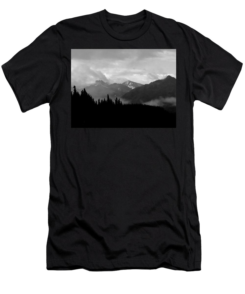 Alaska Men's T-Shirt (Athletic Fit) featuring the photograph Denali National Park 1 by Dick Goodman