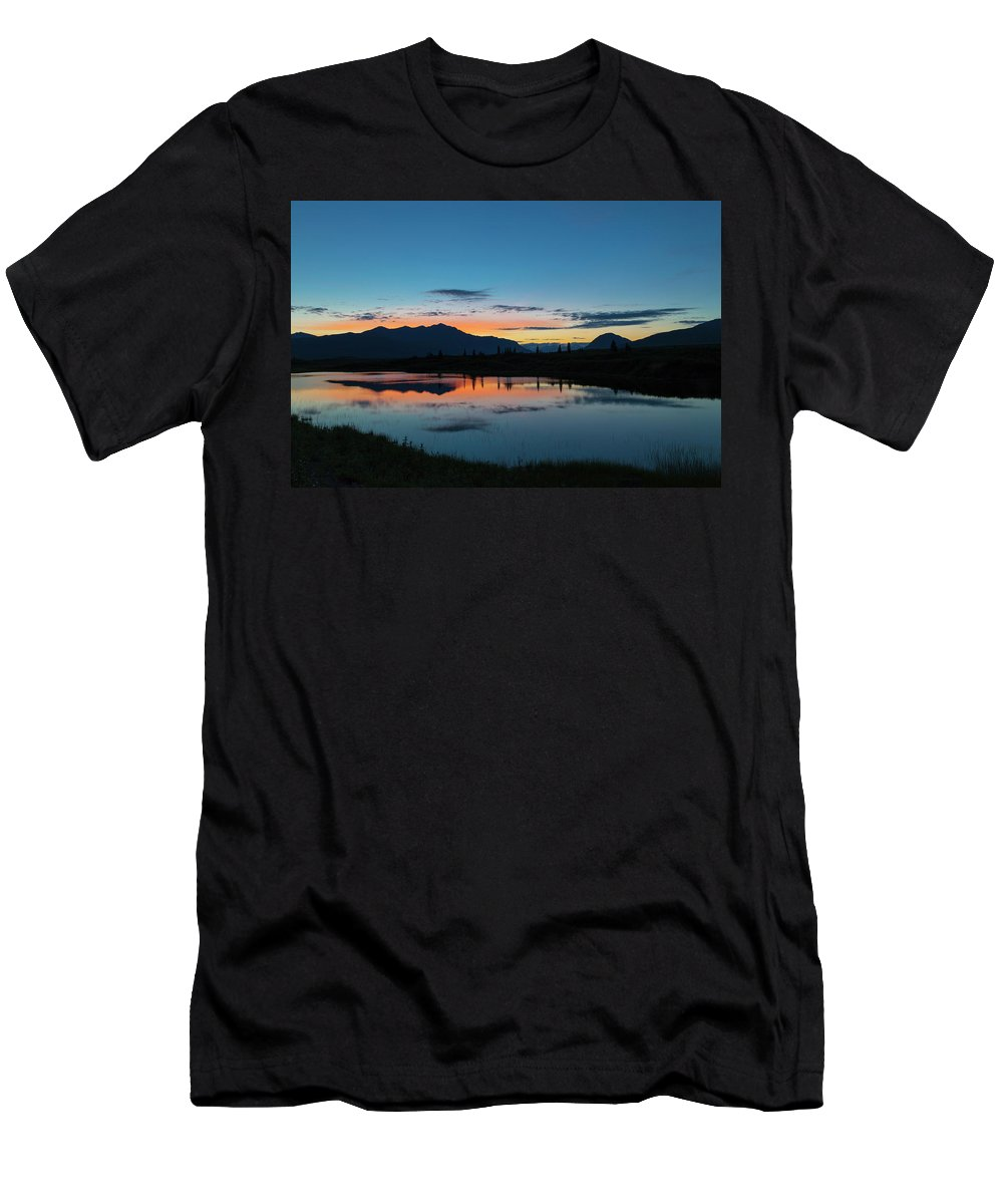 Alaska Men's T-Shirt (Athletic Fit) featuring the photograph Denali Reflection Lake by Scott Slone