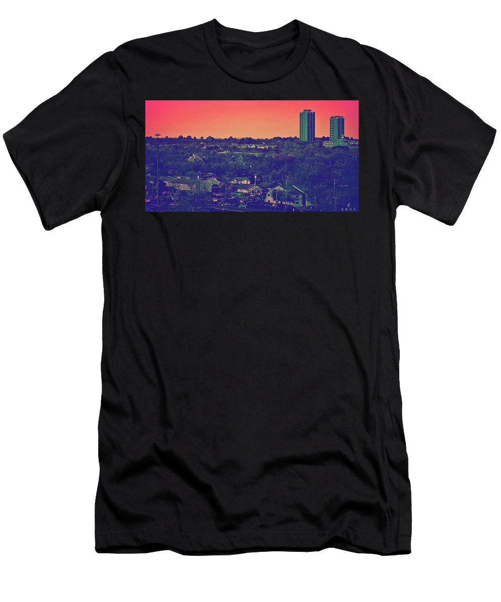 Lanscape Men's T-Shirt (Athletic Fit) featuring the photograph Denton Vice by KG Thompson