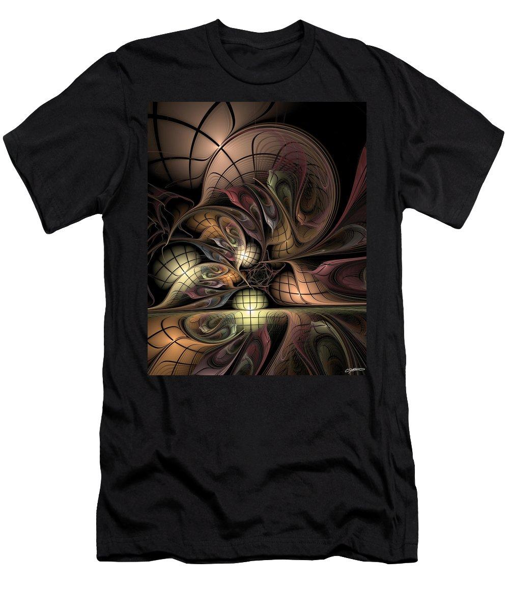 Abstract Men's T-Shirt (Athletic Fit) featuring the digital art Describing Descartes by Casey Kotas