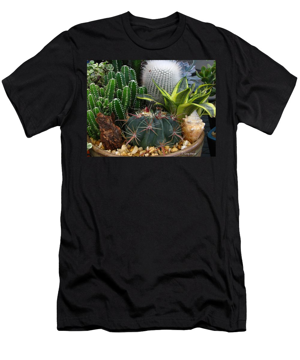 Art For The Wall...patzer Photography Men's T-Shirt (Athletic Fit) featuring the photograph Desert Art by Greg Patzer
