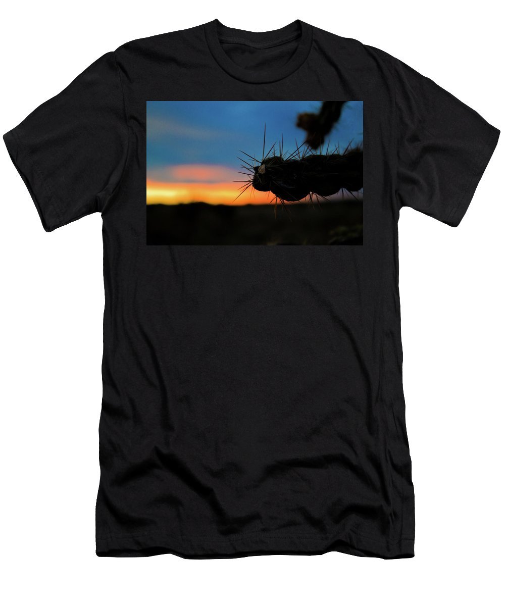 Men's T-Shirt (Athletic Fit) featuring the photograph Desert Cactus by Keith Peacock