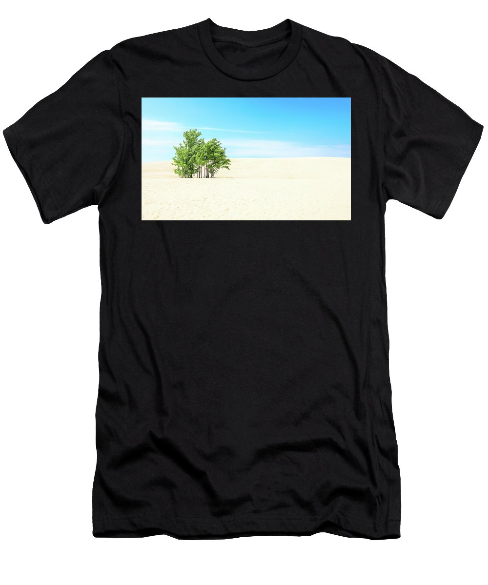 Desert Green Trees Men's T-Shirt (Athletic Fit) featuring the photograph Desert Green Trees by Dan Sproul