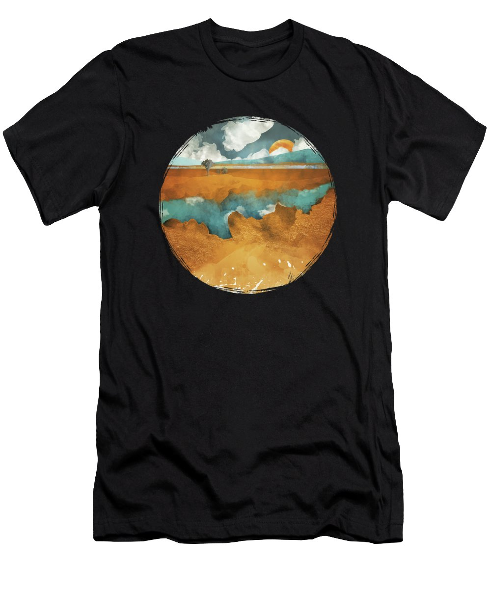 Desert T-Shirt featuring the digital art Desert Lake by Spacefrog Designs