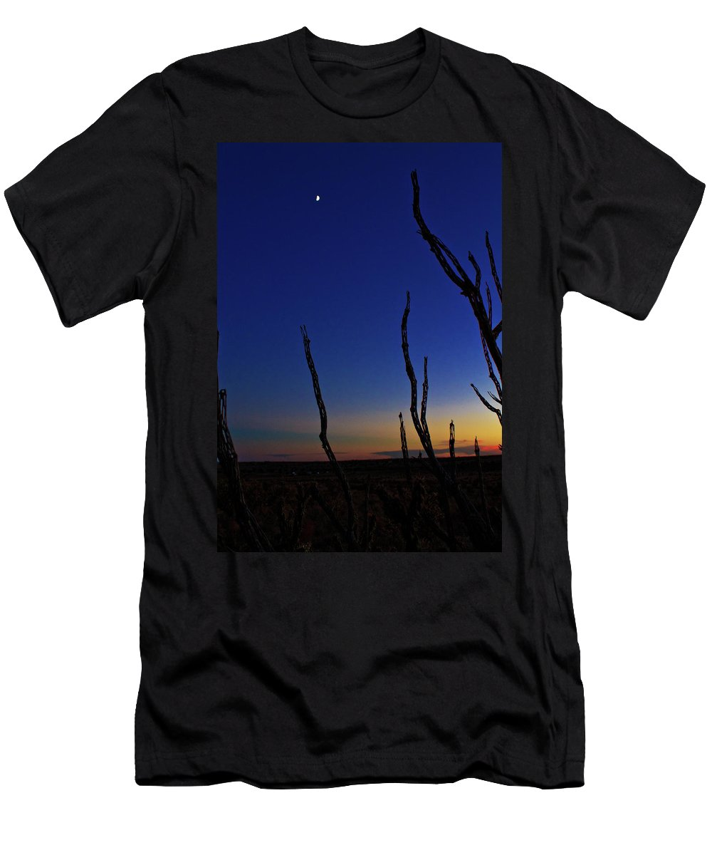 Men's T-Shirt (Athletic Fit) featuring the photograph Desert Moon by Keith Peacock