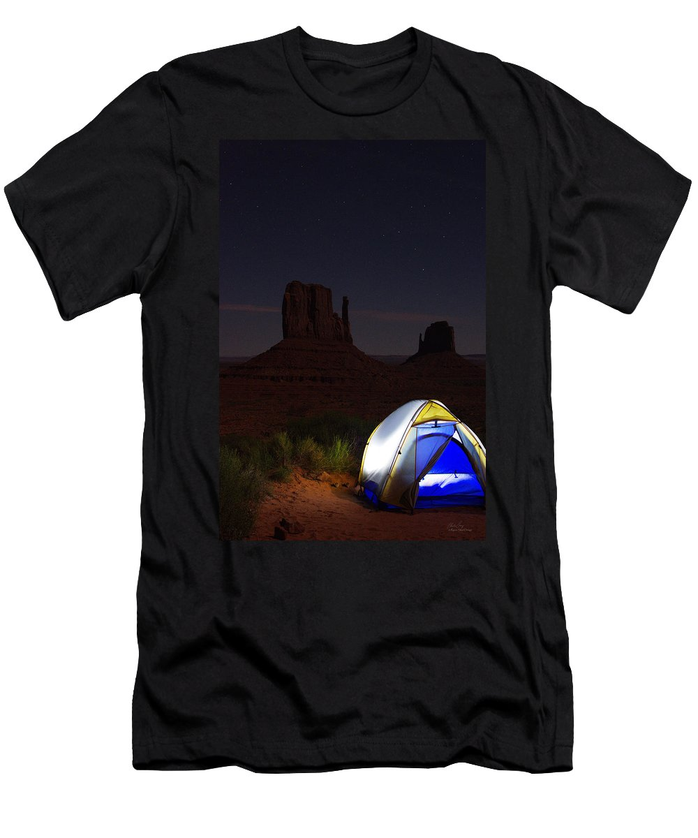 Photography Men's T-Shirt (Athletic Fit) featuring the photograph Desert Night by Raven Steel Design