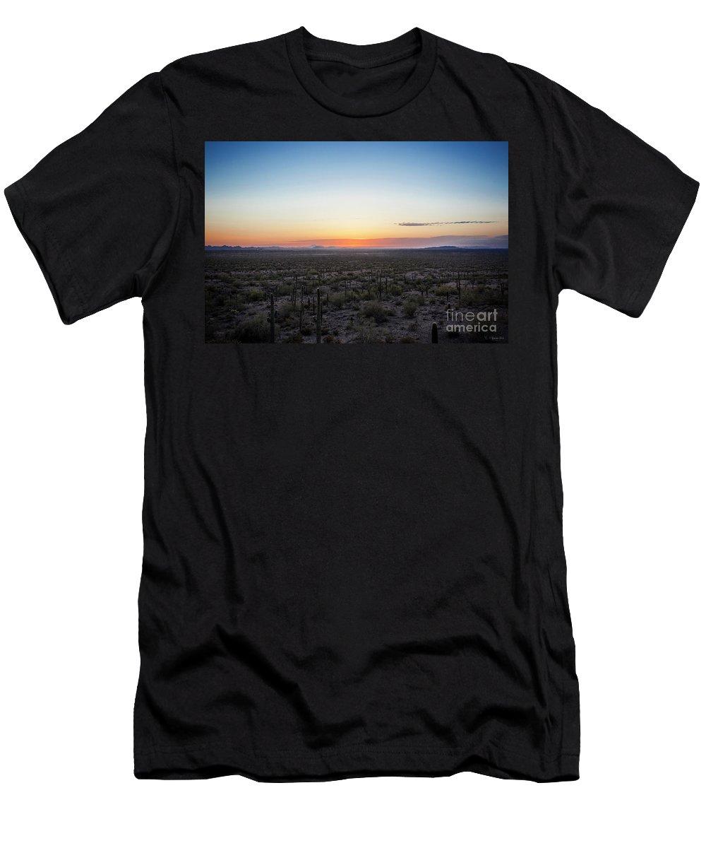 Desert Men's T-Shirt (Athletic Fit) featuring the photograph Desert Sunset #5 by Korrine Holt