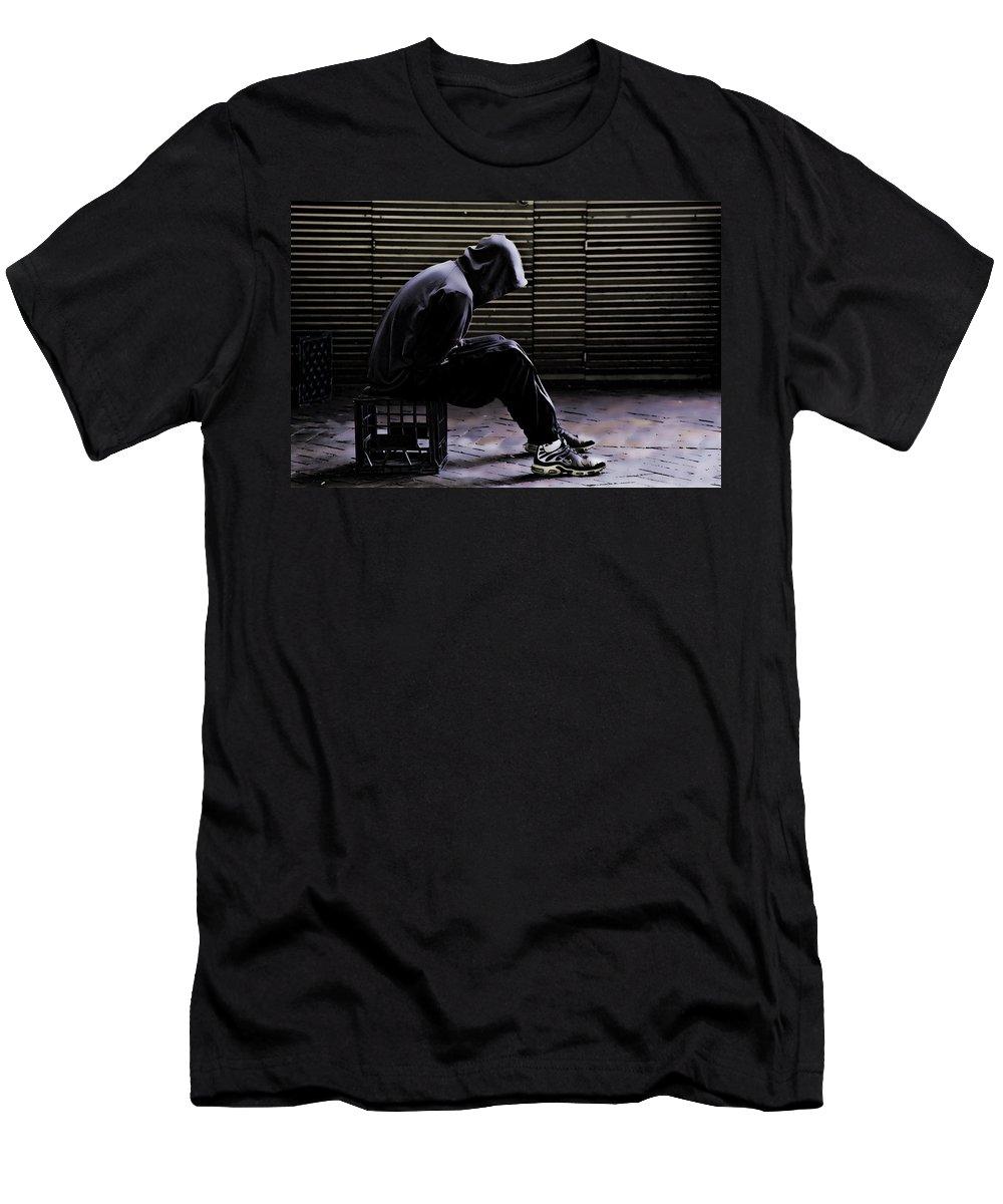 Despair Men's T-Shirt (Athletic Fit) featuring the photograph Despair by Sheila Smart Fine Art Photography