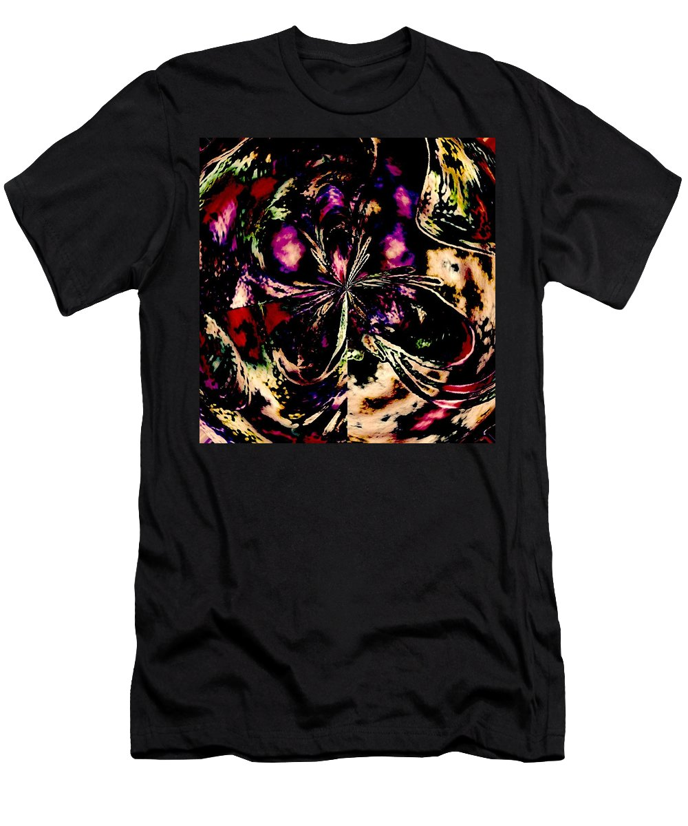 Abstract Men's T-Shirt (Athletic Fit) featuring the photograph Detail Of Hanging Gardens by Elizabeth Tillar
