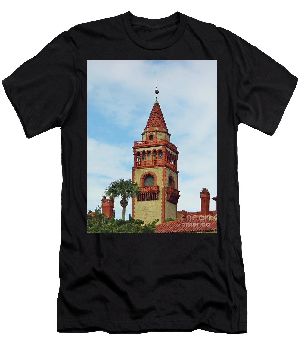 Flagler College Men's T-Shirt (Athletic Fit) featuring the photograph Details Of Flagler College by D Hackett