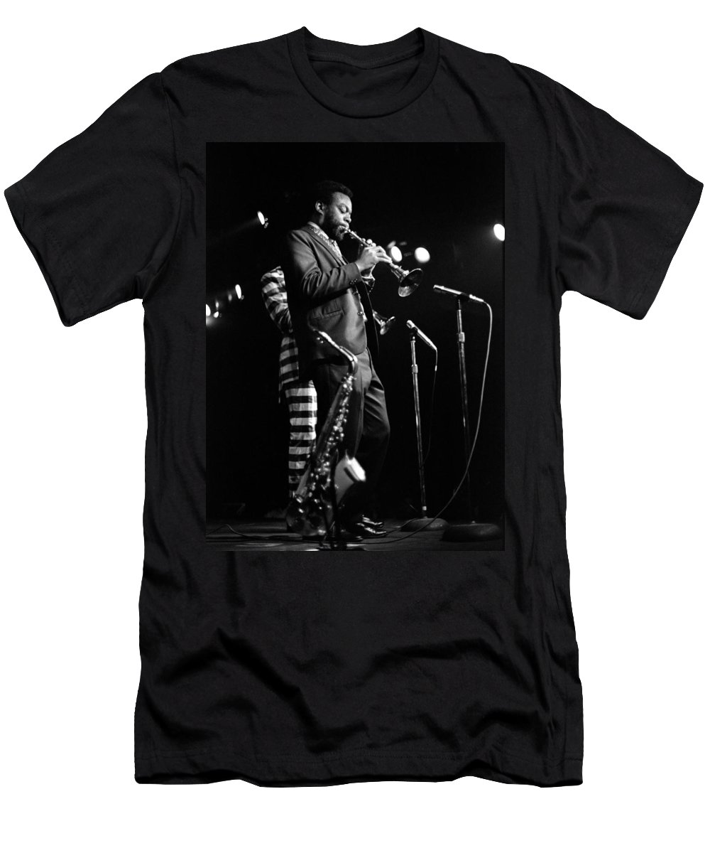 Ornette Coleman Men's T-Shirt (Athletic Fit) featuring the photograph Dewey Redman On Musette by Lee Santa
