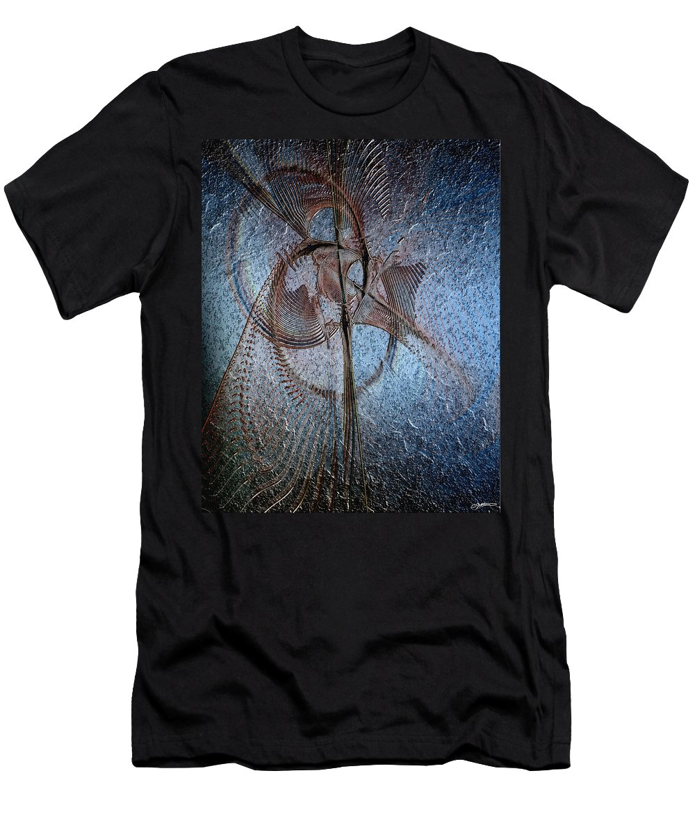 Abstract Men's T-Shirt (Athletic Fit) featuring the digital art Diachrony Of Altruism by Casey Kotas