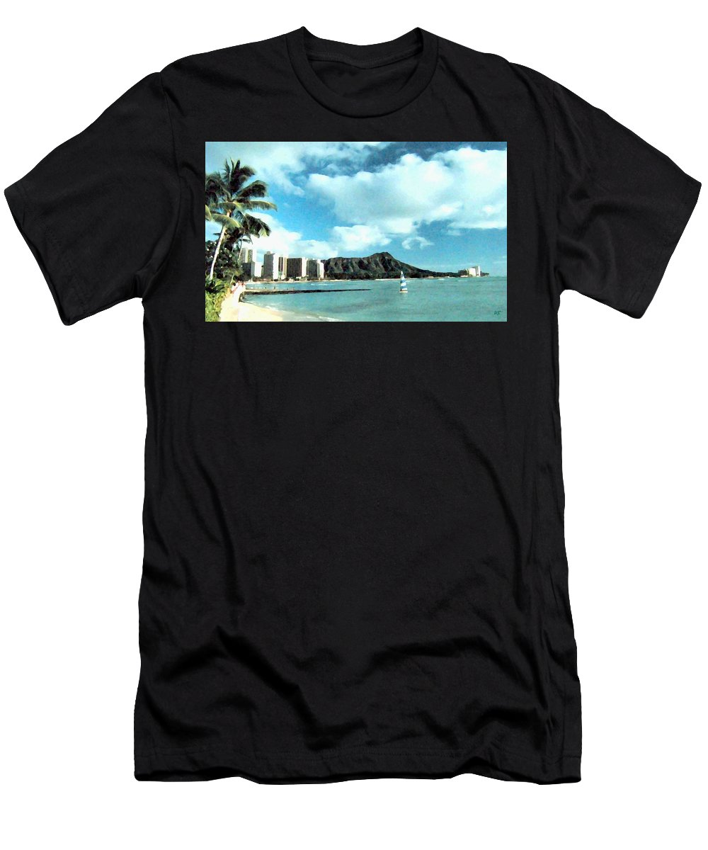 1986 Men's T-Shirt (Athletic Fit) featuring the digital art Diamond Head by Will Borden
