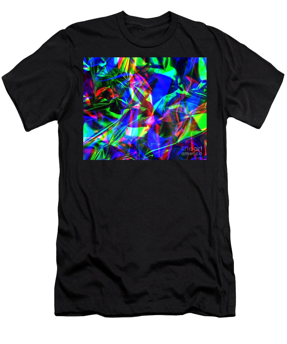 Rgb Men's T-Shirt (Athletic Fit) featuring the photograph Digital Art-a10 by Gary Gingrich Galleries