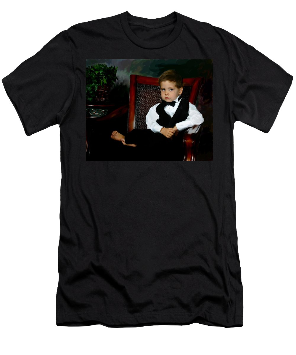 Painting Men's T-Shirt (Athletic Fit) featuring the digital art Digital Art Painting Of My Son by Anthony Jones