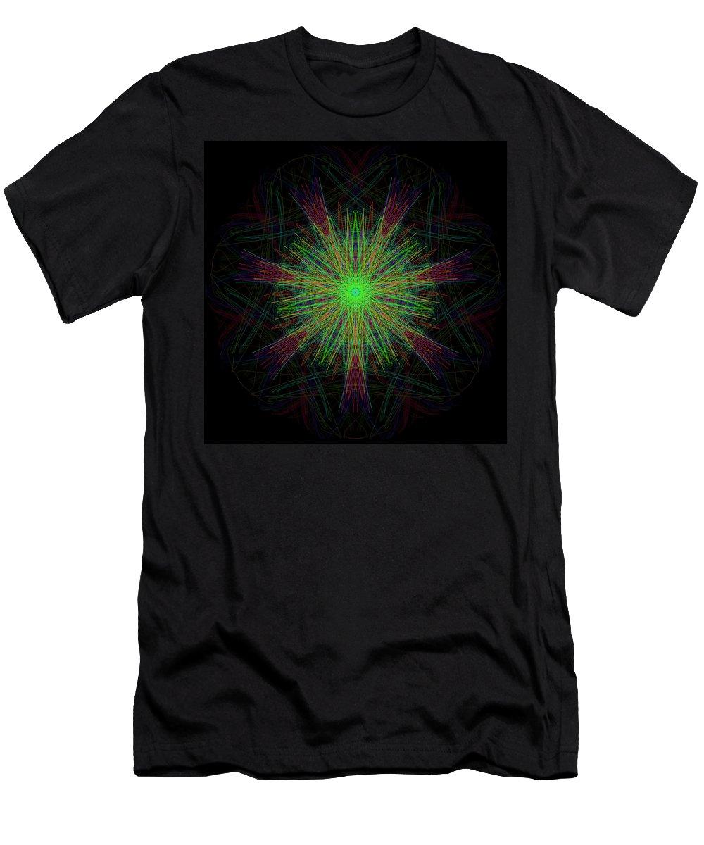 Men's T-Shirt (Athletic Fit) featuring the digital art Digital Leaf by Thomas Gastineau