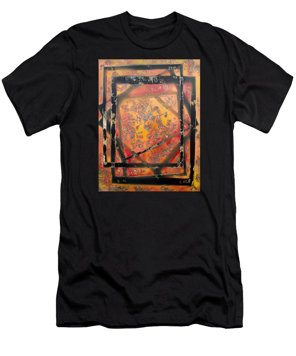 Colorful Men's T-Shirt (Athletic Fit) featuring the painting Dimensions by Arlene Wright-Correll
