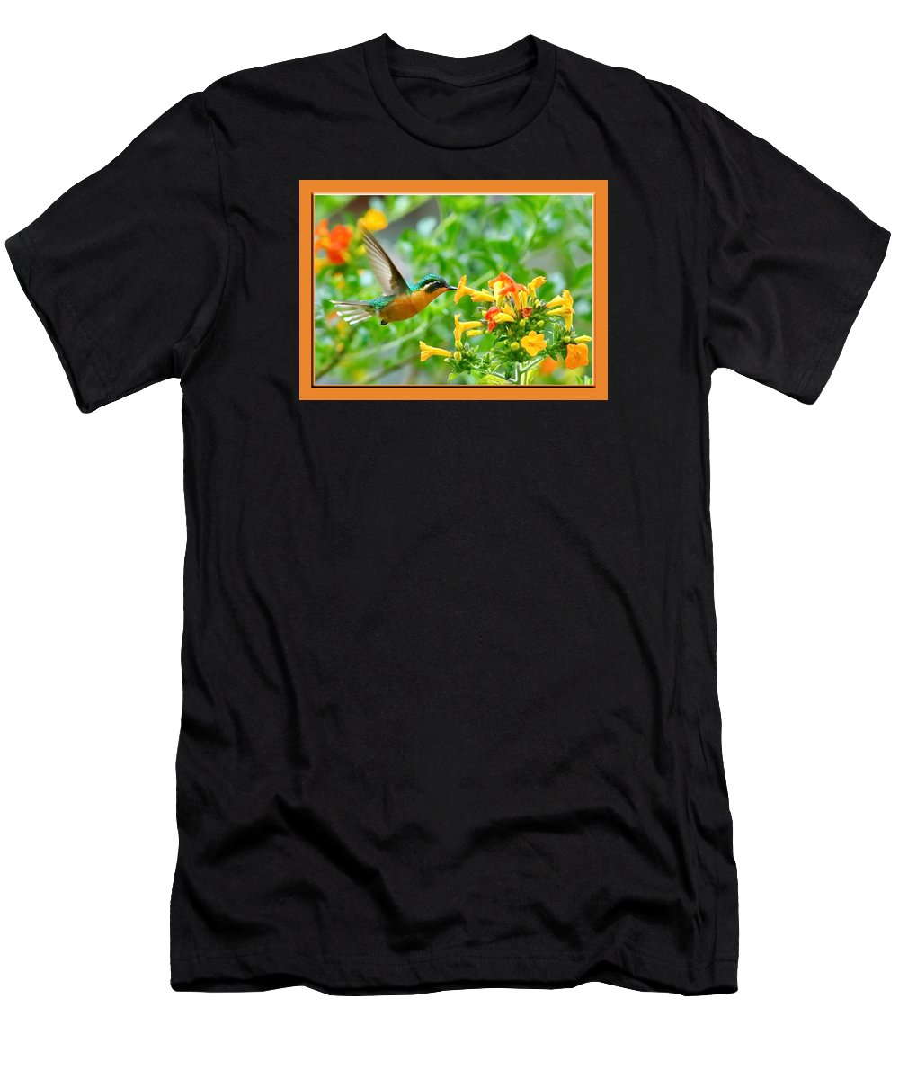 Hummingbird Men's T-Shirt (Athletic Fit) featuring the photograph Dinner by BYETPhotography