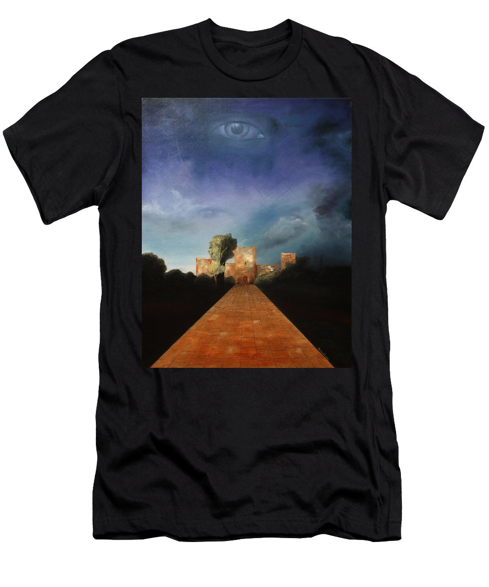 Disclosure Of The Hidden Men's T-Shirt (Athletic Fit) featuring the painting Disclosure Of The Hidden by Darko Topalski