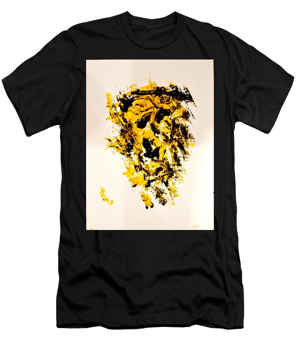 Men's T-Shirt (Athletic Fit) featuring the painting Disfhoria by Liberio Art