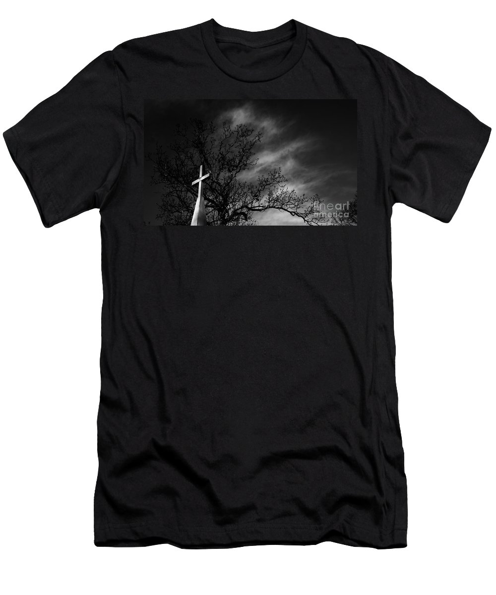 Disquiet Men's T-Shirt (Athletic Fit) featuring the photograph Disquiet by Amanda Barcon