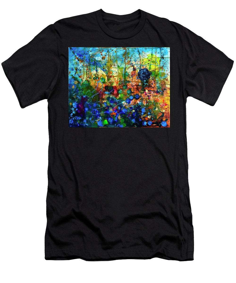 Men's T-Shirt (Athletic Fit) featuring the painting Dissolution And Rebirth by Chris Shockley