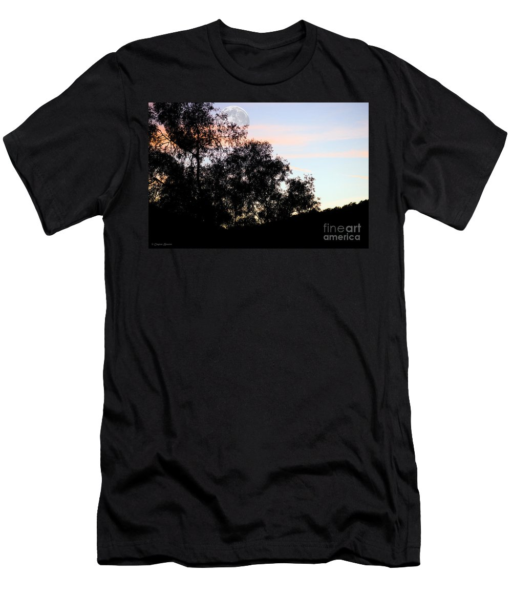 Clay Men's T-Shirt (Athletic Fit) featuring the photograph Distant Moon by Clayton Bruster