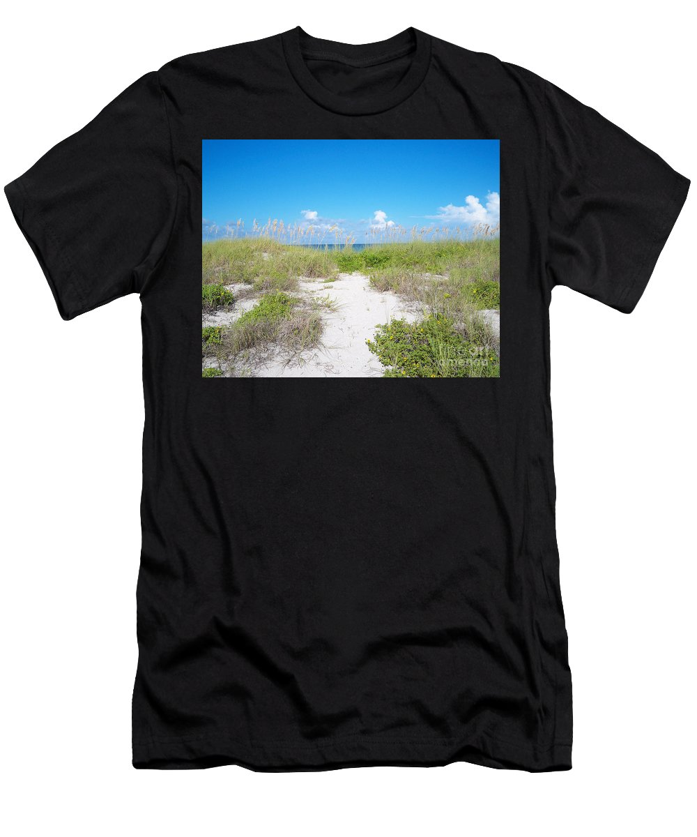 Florida Men's T-Shirt (Athletic Fit) featuring the photograph Distant Sea by Chris Andruskiewicz
