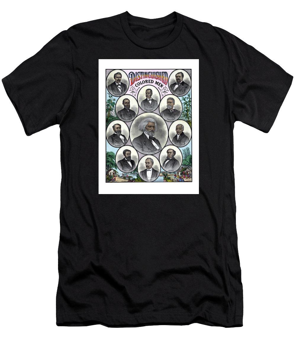 Black History Men's T-Shirt (Athletic Fit) featuring the painting Distinguished Colored Men by War Is Hell Store