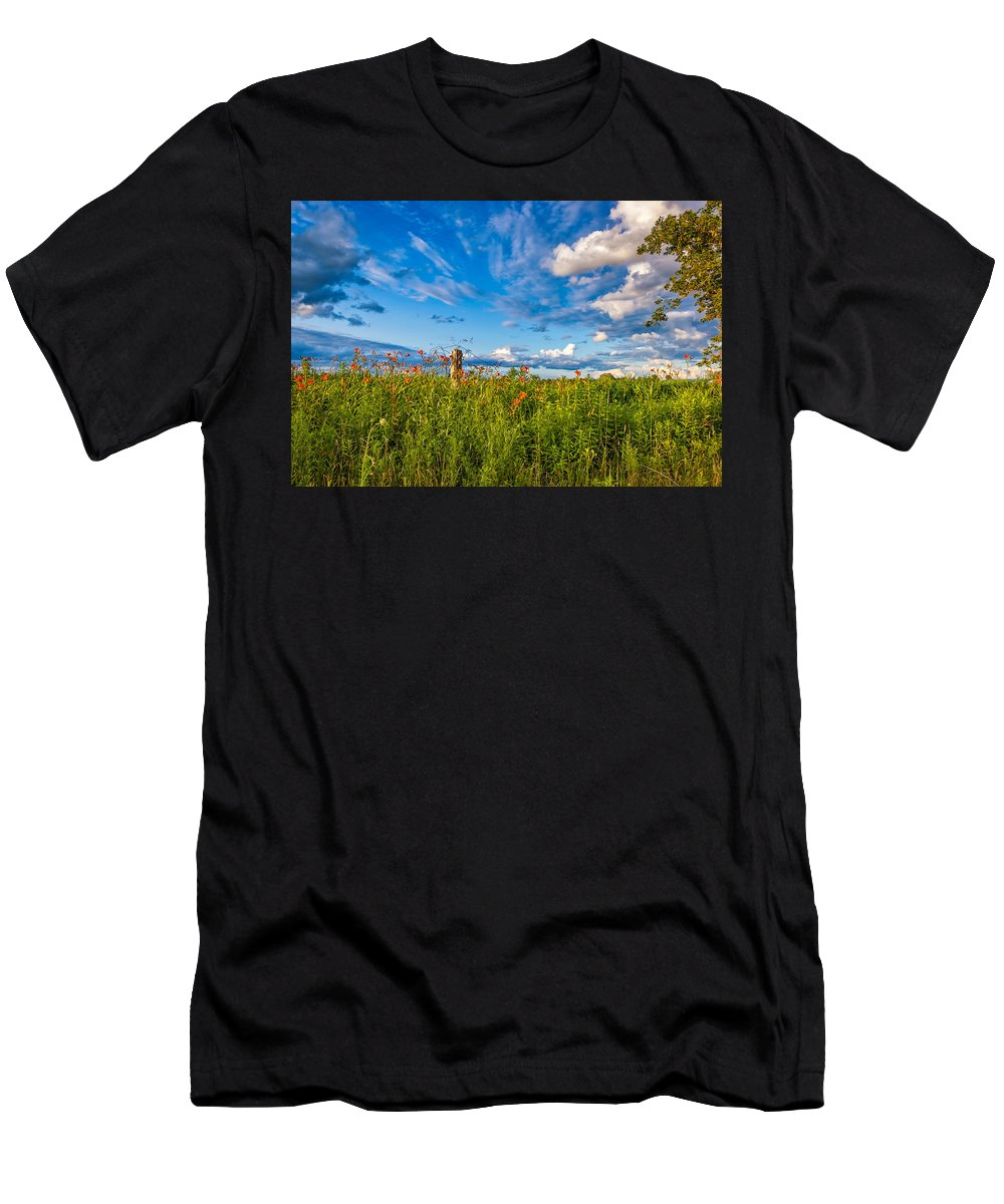 Ditch Men's T-Shirt (Athletic Fit) featuring the photograph Ditch View by Steve Harrington