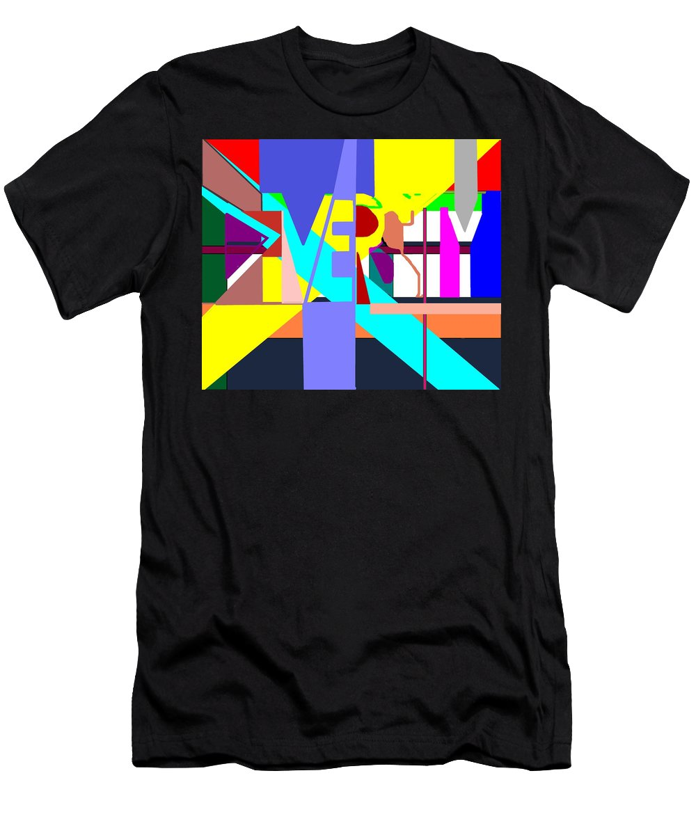 Diversity Men's T-Shirt (Athletic Fit) featuring the digital art Diversity Enmeshed by Pharris Art