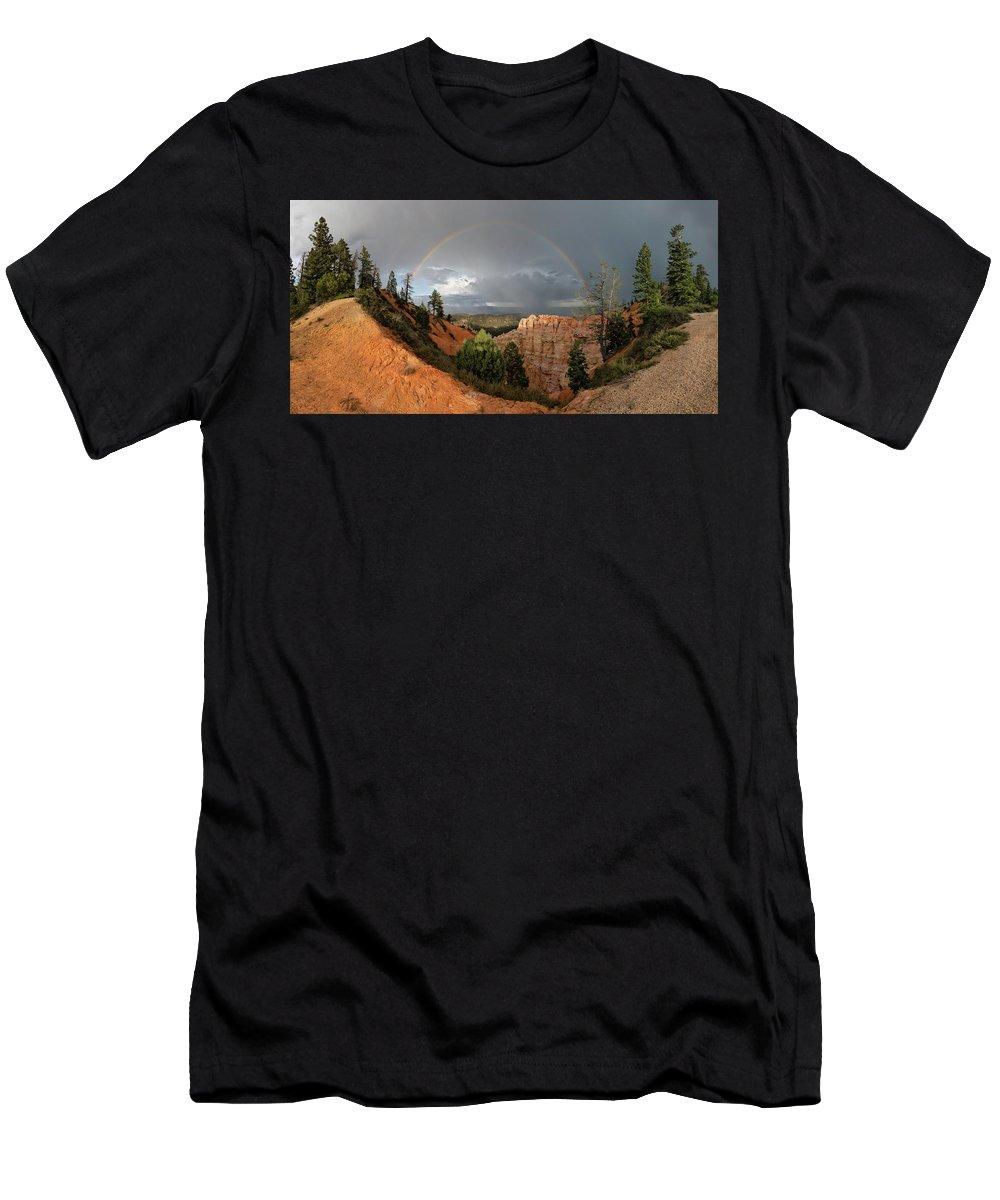 Rainbow Men's T-Shirt (Athletic Fit) featuring the photograph Divine Encounter by Susan Pantuso