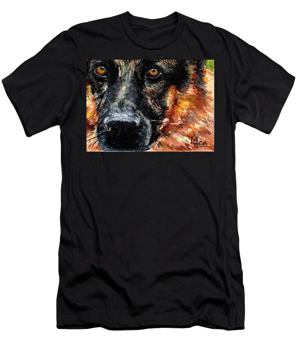 Charity Men's T-Shirt (Athletic Fit) featuring the painting Dixie by Mary-Lee Sanders