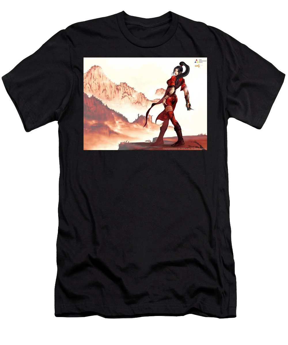 D.o. Men's T-Shirt (Athletic Fit) featuring the digital art D.o. by Dorothy Binder
