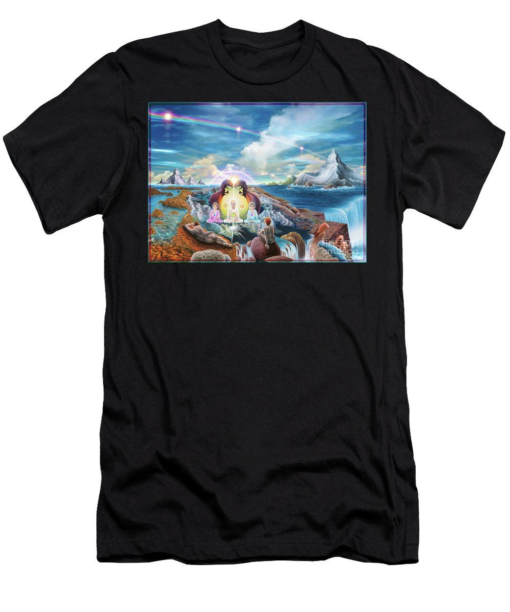 Surreal Art Men's T-Shirt (Athletic Fit) featuring the digital art Do You Have A Vision by Leonard Rubins