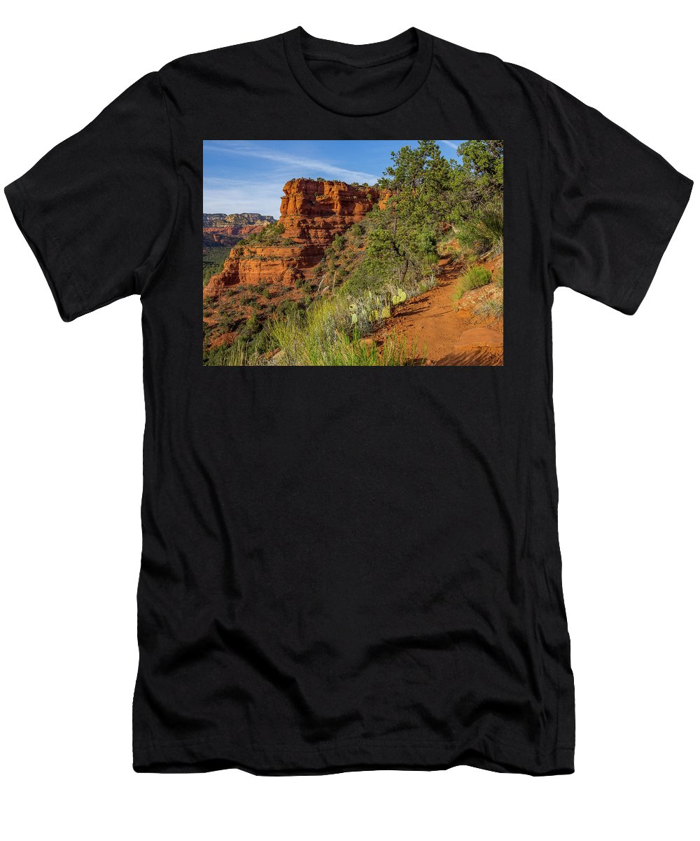 Desert Men's T-Shirt (Athletic Fit) featuring the photograph Doe Mountain Trail by Jessica Giannone