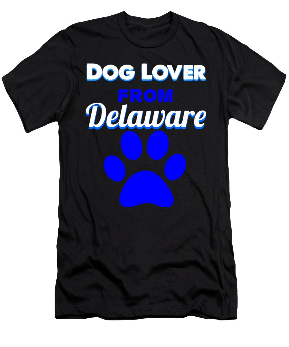 Beagle T-Shirt featuring the digital art Dog Lover From Delaware by Kaylin Watchorn