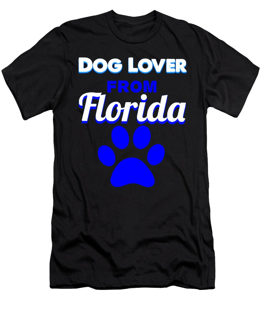 Beagle T-Shirt featuring the digital art Dog Lover From Florida by Kaylin Watchorn