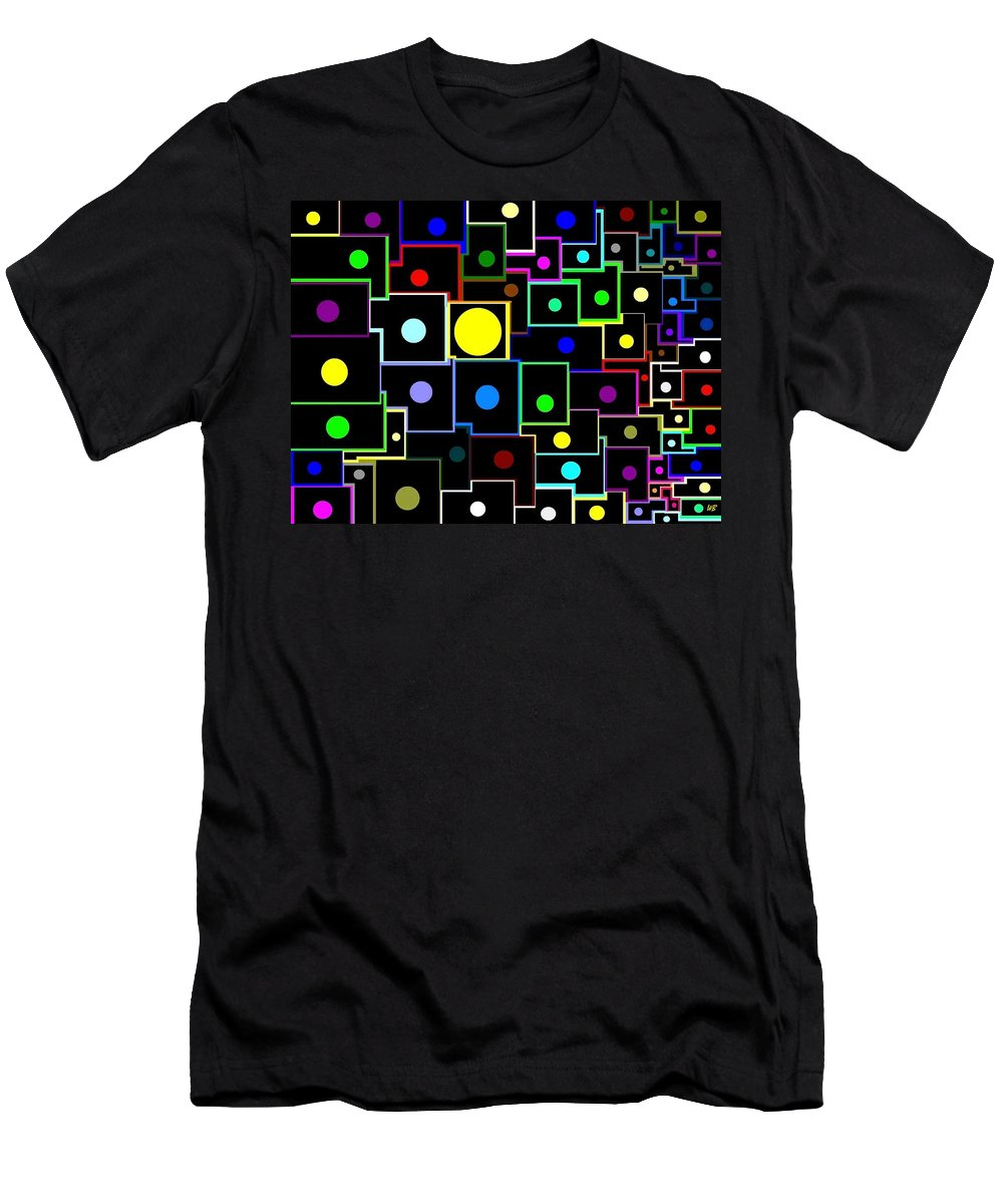 Abstract Men's T-Shirt (Athletic Fit) featuring the digital art Domino Effect by Will Borden