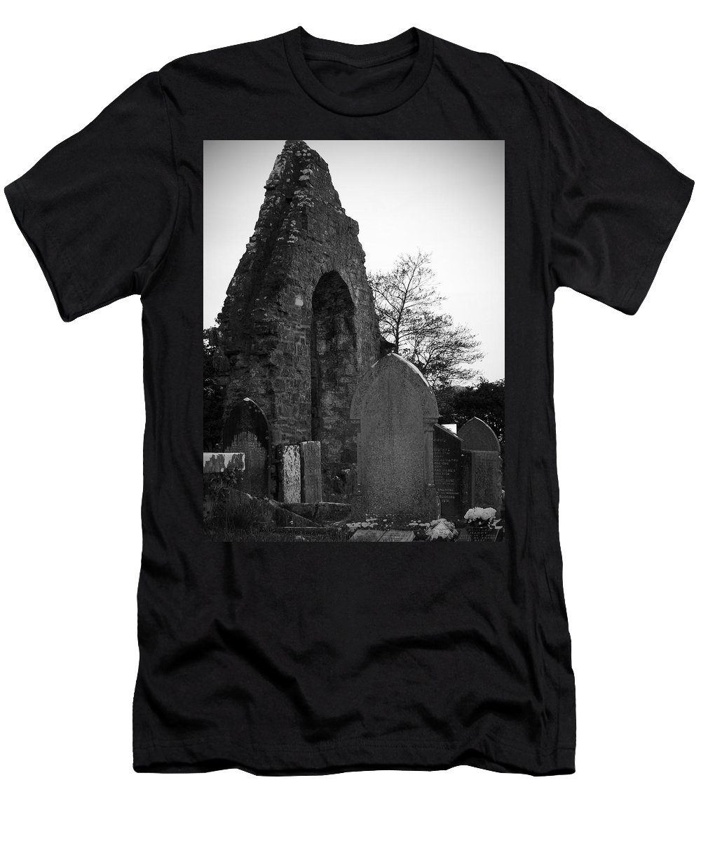Irish Men's T-Shirt (Athletic Fit) featuring the photograph Donegal Abbey Ruins Donegal Ireland by Teresa Mucha