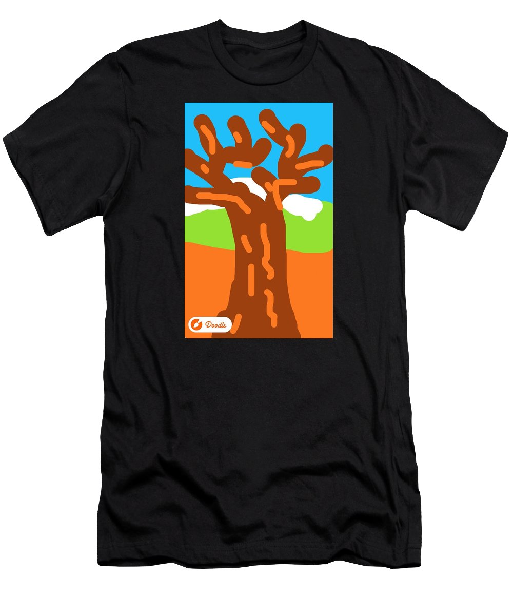 Men's T-Shirt (Athletic Fit) featuring the photograph Doodle From The Enema Table 4 by Michele Monk