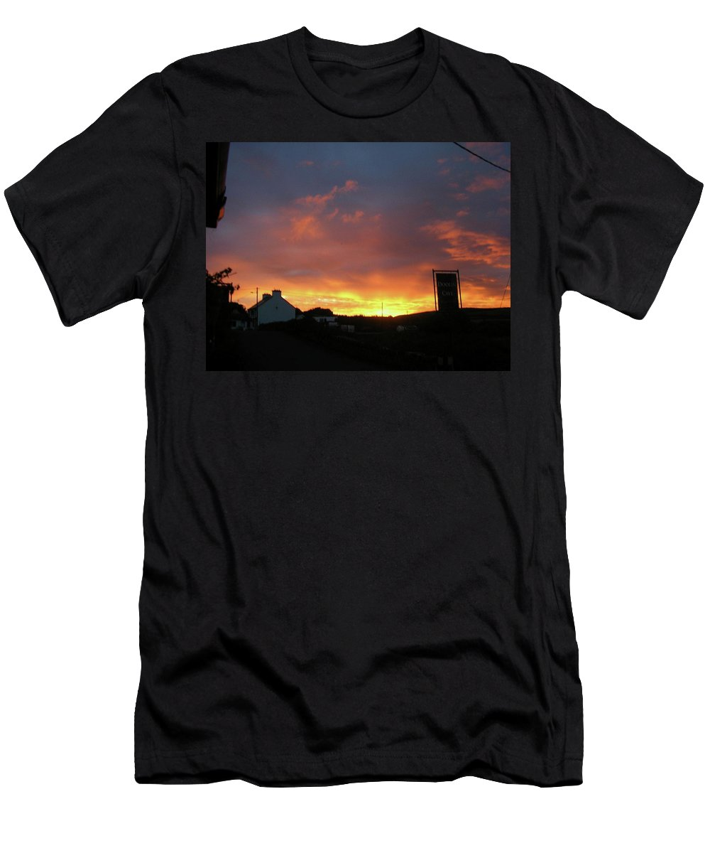 Landscape Men's T-Shirt (Athletic Fit) featuring the photograph Doolin Co Clare Ireland by Louise Macarthur Art and Photography