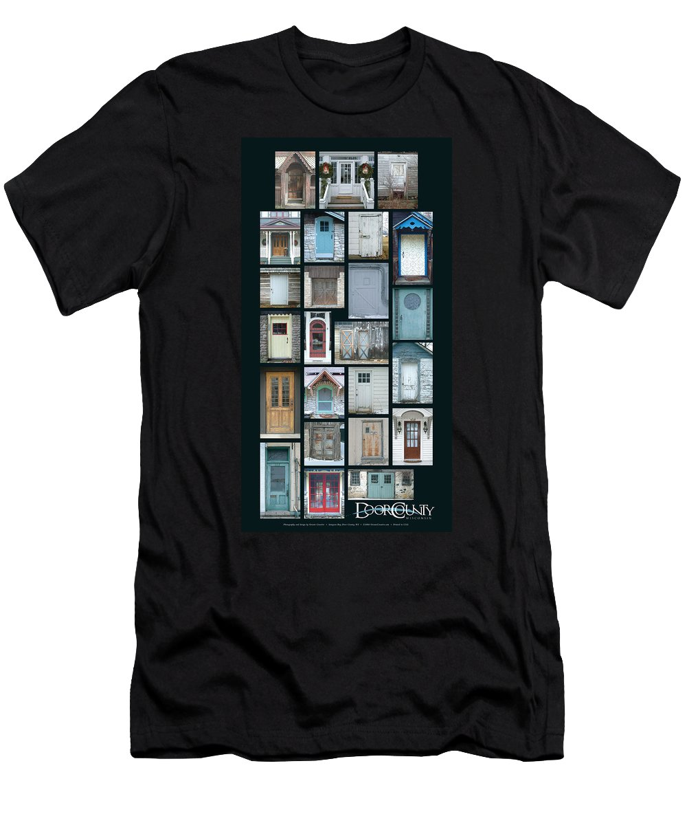 Doors Men's T-Shirt (Athletic Fit) featuring the photograph Doors Of Door County Poster by Tim Nyberg
