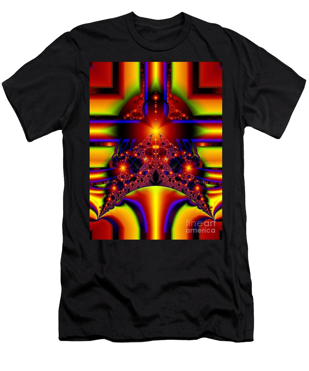 Door Art T-Shirt featuring the digital art Doorway to the Universe Detail by Ron Bissett