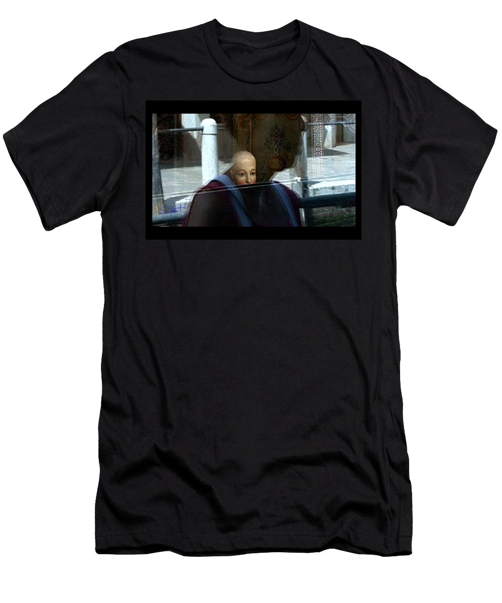 Venice Men's T-Shirt (Athletic Fit) featuring the photograph Dorsodouro by Charles Stuart