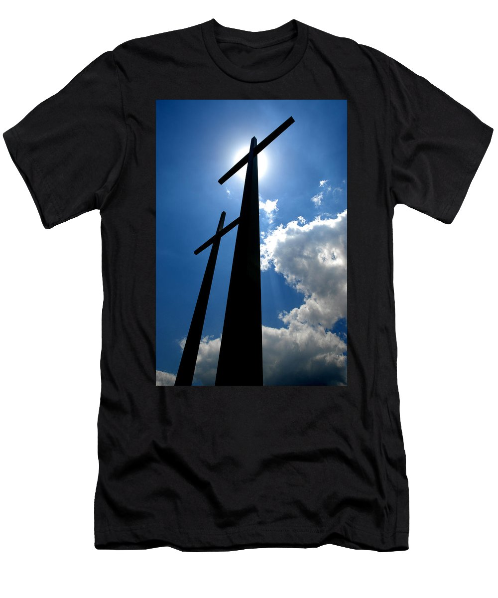 Cross Men's T-Shirt (Athletic Fit) featuring the photograph Dos Cruces by Miguel Pardo